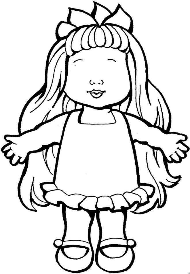 Раскраска девочка в платье для детей - 5